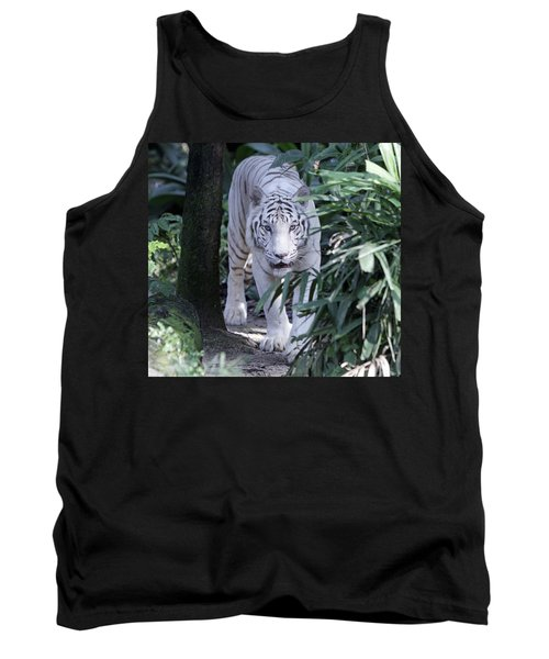 Tank Top featuring the photograph White Tiger  by Shoal Hollingsworth
