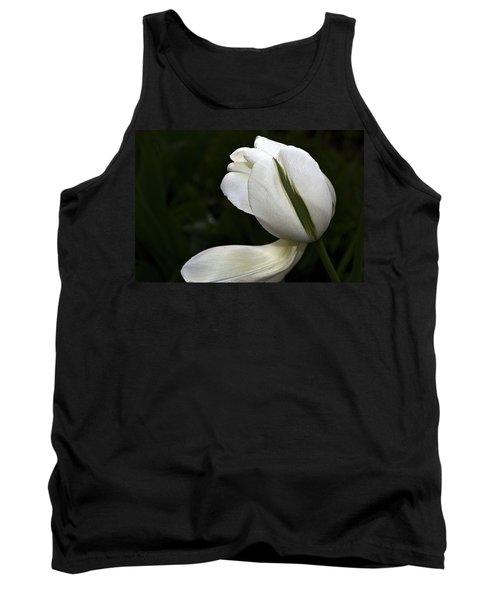 White Tulip Tank Top
