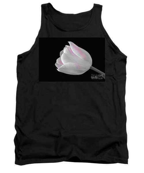 Tank Top featuring the digital art White Tulip With Pink by Jeannie Rhode