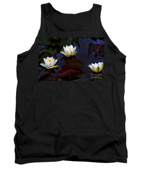 White Water Lilies Tank Top by Nina Ficur Feenan