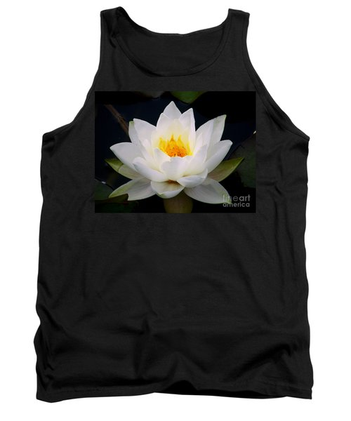 White Water Lily Tank Top by Nina Ficur Feenan