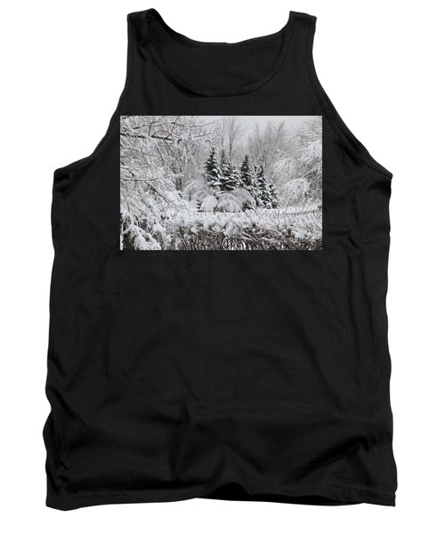 White Winter Day Tank Top