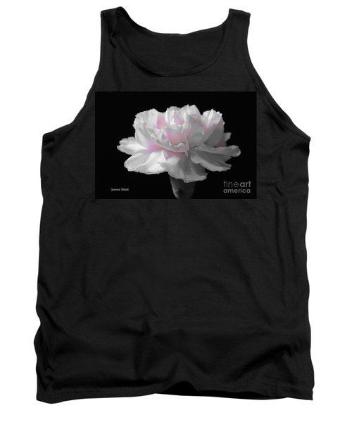 Tank Top featuring the digital art White With Pink Carnation by Jeannie Rhode