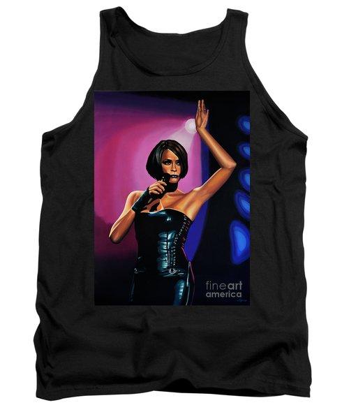 Whitney Houston On Stage Tank Top by Paul Meijering