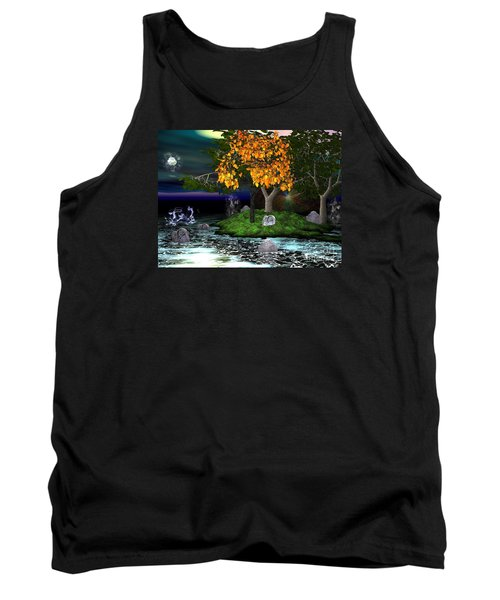 Tank Top featuring the digital art Wicked In The Darkest Hours Of Night by Jacqueline Lloyd