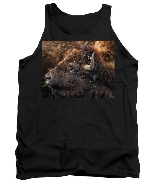 Tank Top featuring the photograph Wild Eye - Bison - Yellowstone by Belinda Greb