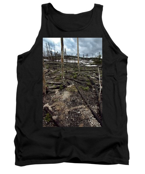 Tank Top featuring the photograph Wild Fire Aftermath by Amanda Stadther