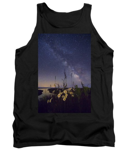 Wild Marguerites Under The Milky Way Tank Top by Mircea Costina Photography