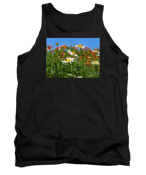 Tank Top featuring the photograph Wild White Daisies #1 by Robert ONeil