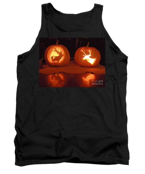 Wildlife Halloween Pumpkin Carving Tank Top