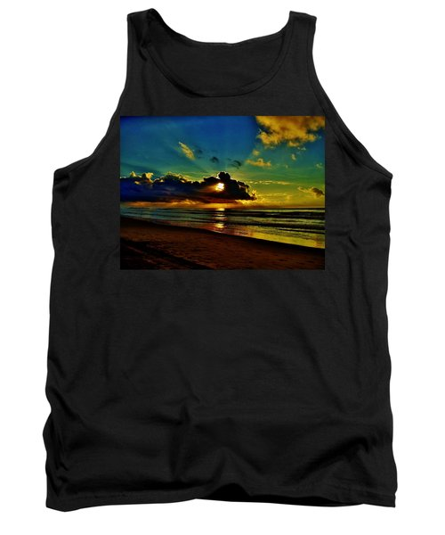 Tank Top featuring the photograph Wildwood Sunrise by Ed Sweeney