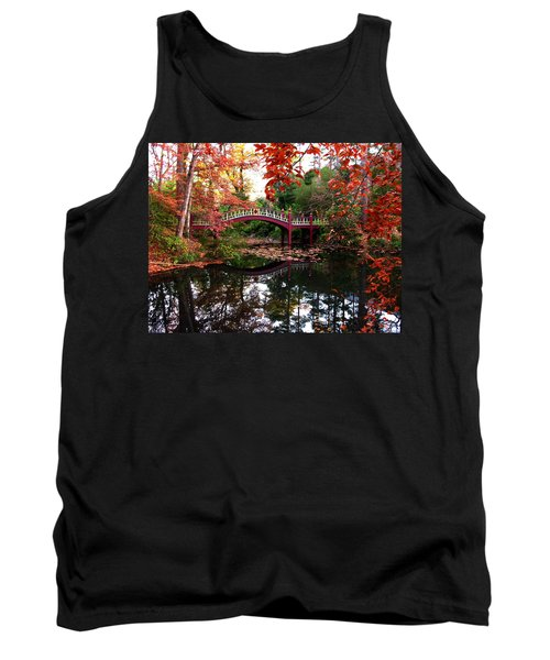 William And Mary College  Crim Dell Bridge Tank Top by Jacqueline M Lewis