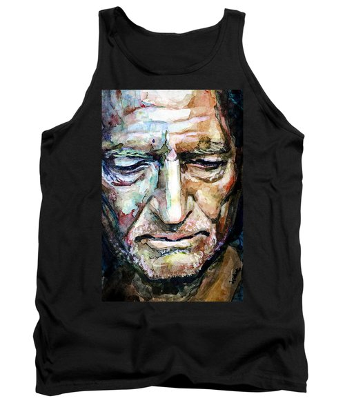 Willie Nelson  Portrait Tank Top by Laur Iduc