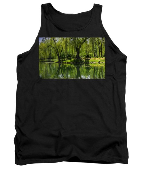 Willows Weep Into Their Reflection  Tank Top