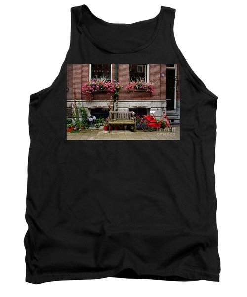 Window Box Bicycle And Bench  -- Amsterdam Tank Top