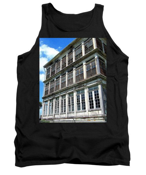 Tank Top featuring the photograph Lunatic Asylum Windows  by Peter Gumaer Ogden