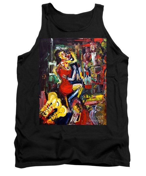 Wine Woman And Music Tank Top