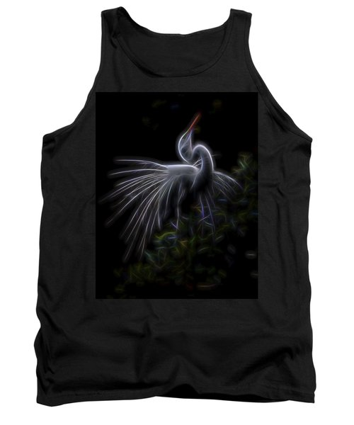 Tank Top featuring the digital art Winged Romance 2 by William Horden