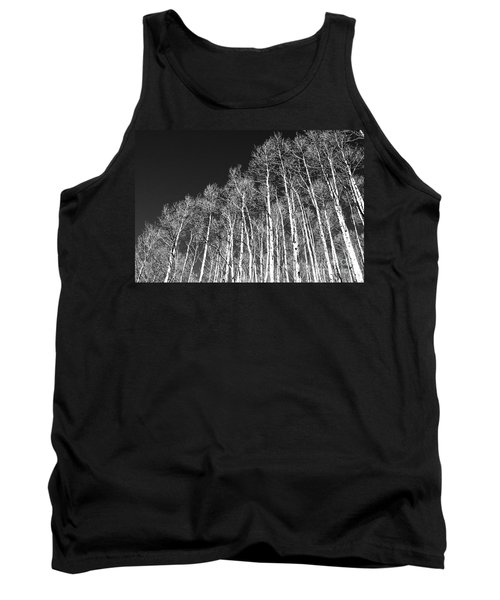 Tank Top featuring the photograph Winter Aspens by Roselynne Broussard