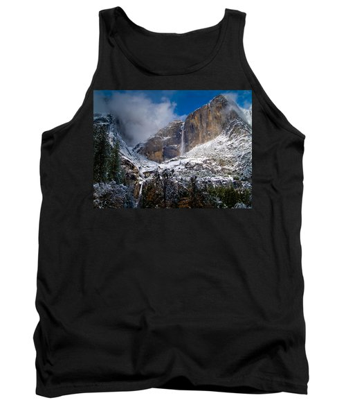 Winter At Yosemite Falls Tank Top by Bill Gallagher