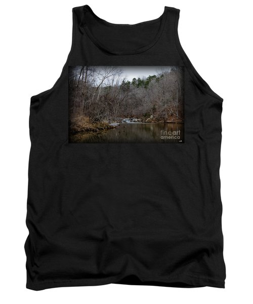 Winter On The Eno River At Fews Ford Tank Top