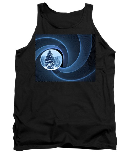 Tank Top featuring the photograph Winter Pines by Judy  Johnson