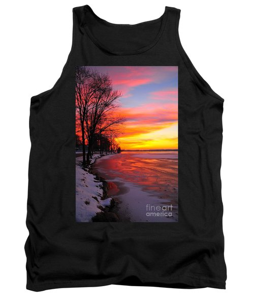 Tank Top featuring the photograph Winter Sunrise On Lake Cadillac by Terri Gostola