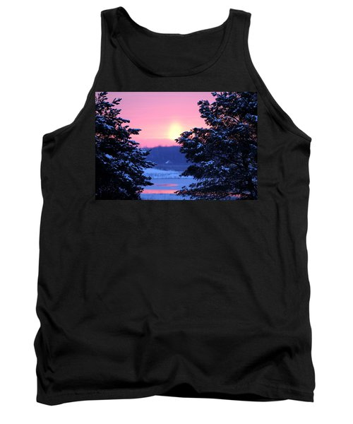 Tank Top featuring the photograph Winter's Sunrise by Elizabeth Winter