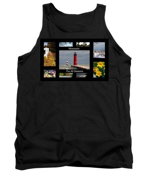 Tank Top featuring the photograph Wisconsin For All Seasons by Kay Novy