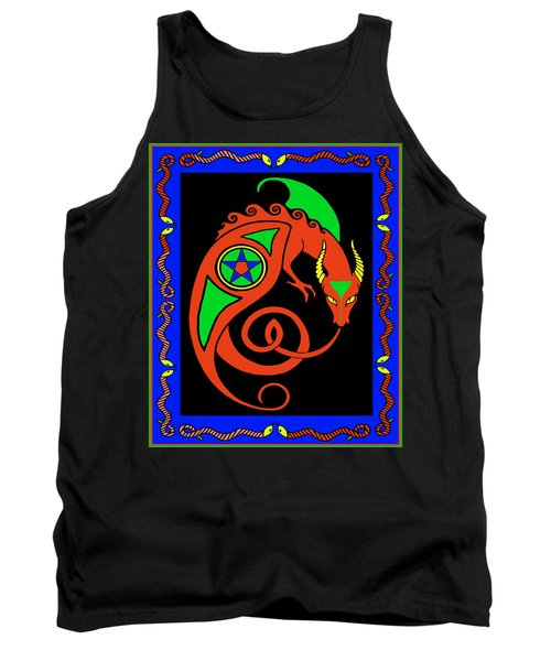 Tank Top featuring the digital art Witches Dragon by Vagabond Folk Art - Virginia Vivier