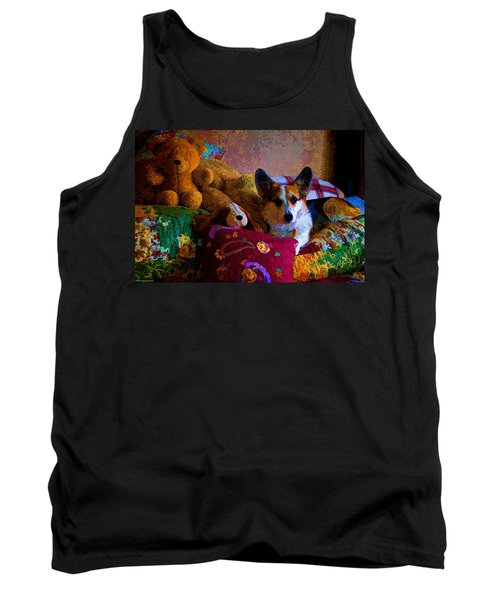 With His Friends On The Bed Tank Top by Mick Anderson
