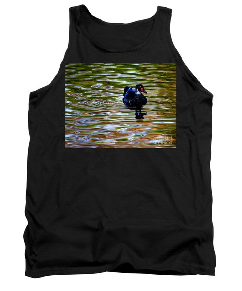 Tank Top featuring the photograph Wood Duck Reflections by John F Tsumas