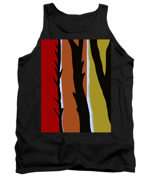 Tank Top featuring the digital art Wood L by Christine Fournier