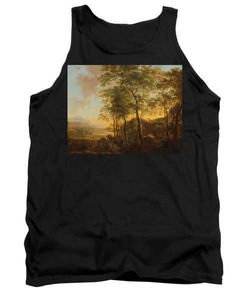 Wooded Hillside With A Vista Tank Top by Jan Both