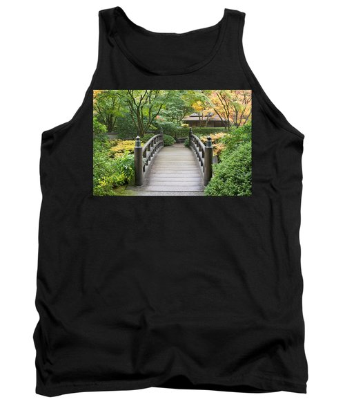 Tank Top featuring the photograph Wooden Foot Bridge In Japanese Garden by JPLDesigns