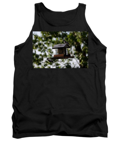 Woodpeckers At Dinner Tank Top