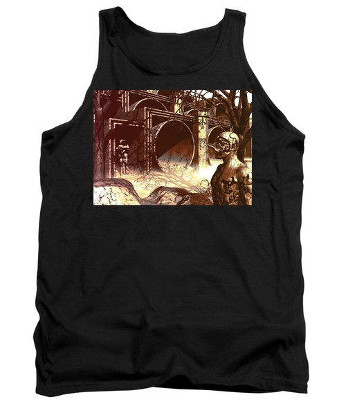 Tank Top featuring the digital art World Of Ruin by John Alexander