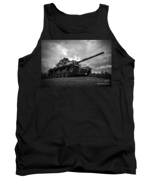 World War II Tank Black And White Tank Top