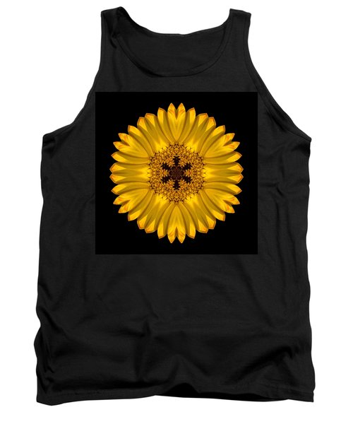Yellow African Daisy Flower Mandala Tank Top