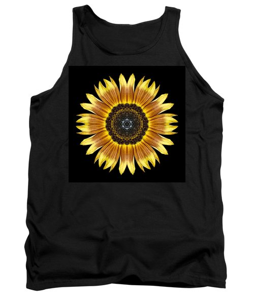 Yellow And Brown Sunflower Flower Mandala Tank Top