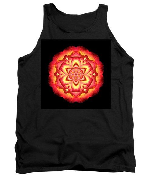 Yellow And Red Rose II Flower Mandalaflower Mandala Tank Top