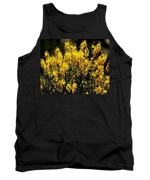 Yellow Cluster Flowers Tank Top by Matt Harang