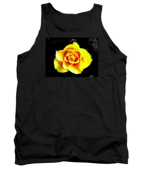 Yellow Flower On A Dark Background Tank Top