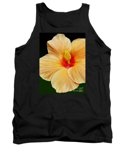 Tank Top featuring the painting Yellow Hibiscus by Rand Herron