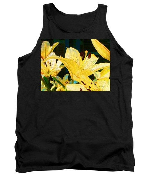 Yellow Lilies Tank Top