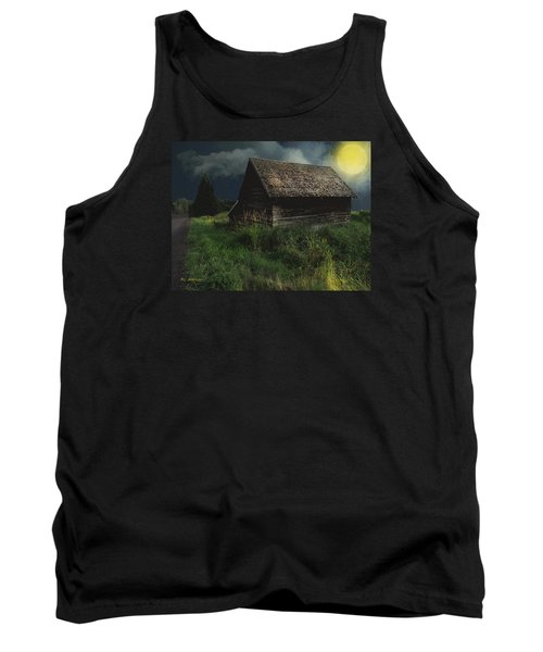 Yellow Moon On The Rise Tank Top