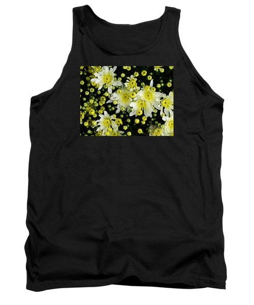 Tank Top featuring the photograph Yellow Mums by Lyric Lucas