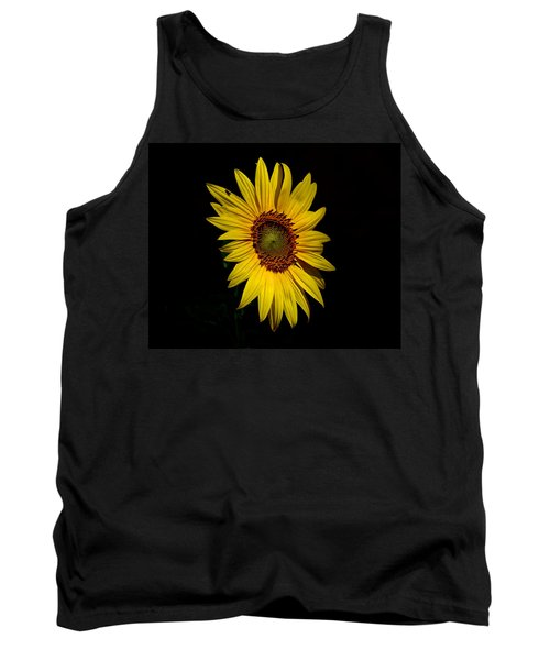 Yellow On Black Tank Top