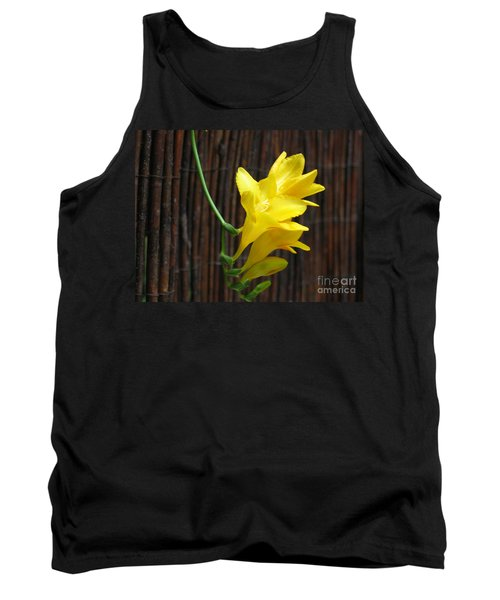 Yellow Petals Tank Top by HEVi FineArt