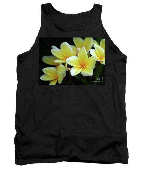 Yellow Plumeria Cascade Tank Top